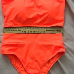 boutique Swim - High rise neon orange bikini